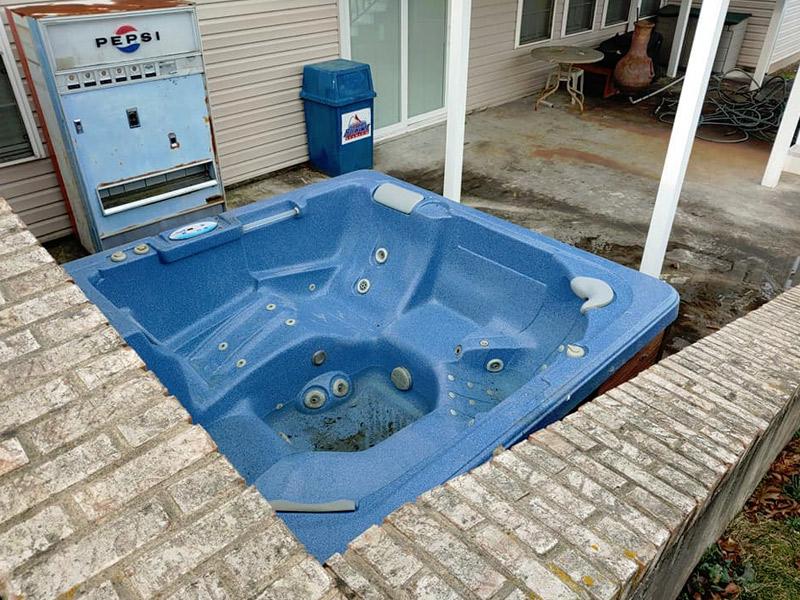 Junk Removal Hot Tub